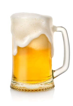 single beer: Mug with beer Stock Photo