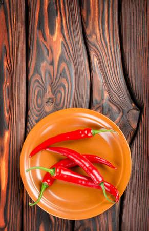Pimienta en un plato Foto de archivo