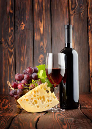 Red wine with cheese photo