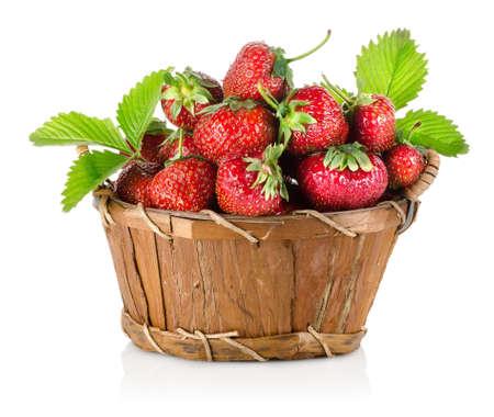 canasta de frutas: Fresas en una cesta