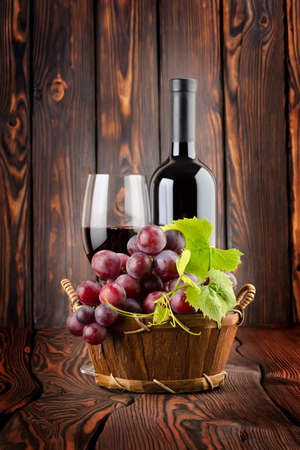 Wine and grapes photo