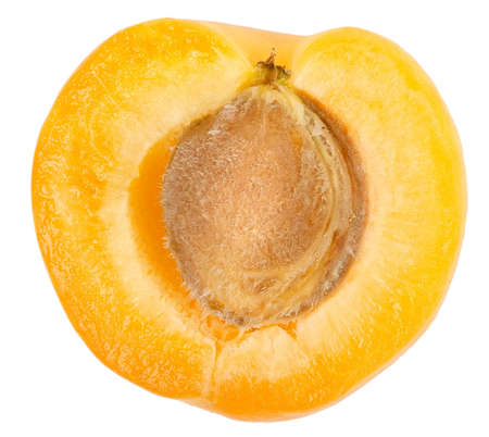 sectioned: Apricot sectioned by knife