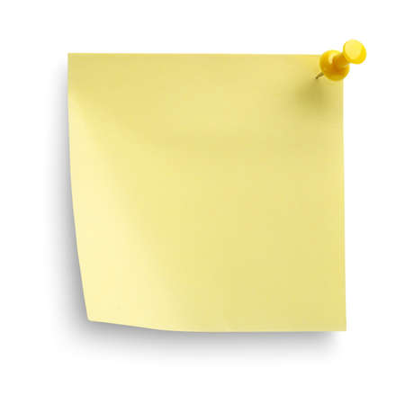 Yellow notebook isolated Stock Photo - 14505144