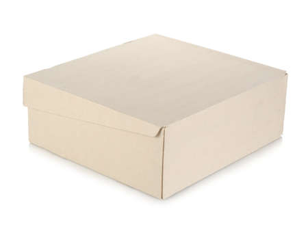Box isolated on a white photo