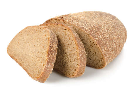 rye bread: Rye bread isolated Stock Photo