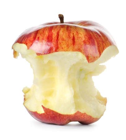 apple core: Eaten red apple