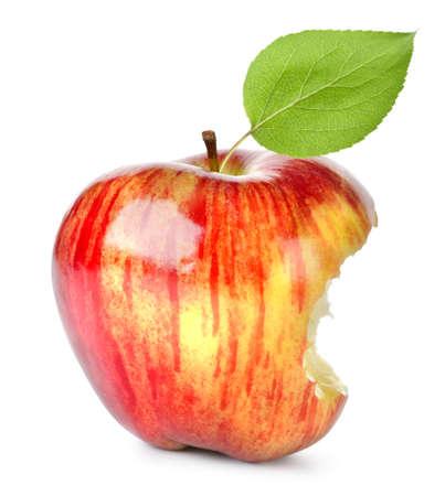 apple bite: Bite on a red Apple