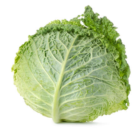savoy: Savoy cabbage isolated