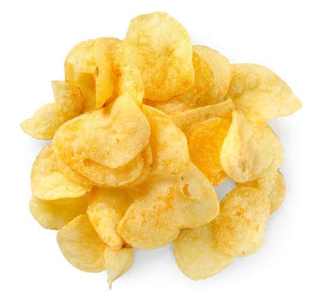 potato chips: Potato chips isolated