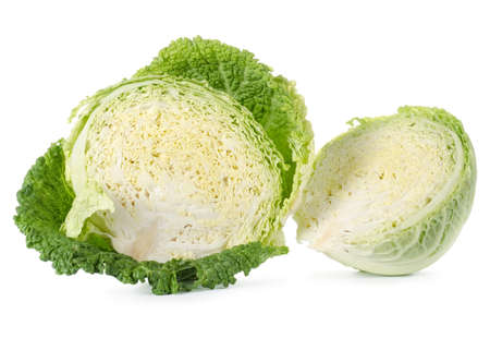 savoy cabbage: Savoy cabbage is in a cut Stock Photo