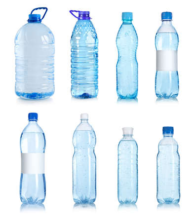Collage of water bottles Banco de Imagens