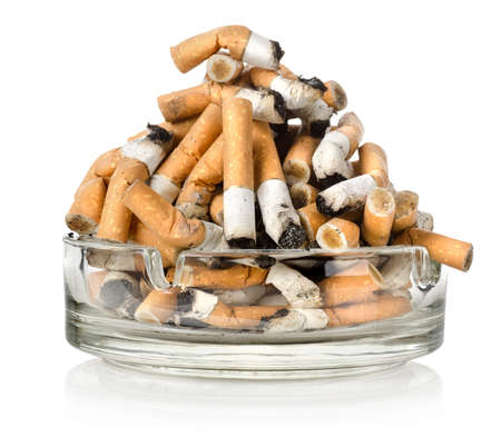 ashtray: Ashtray and cigarettes