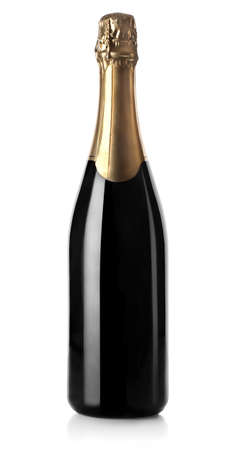 champagne bottle: Champagne bottle isolated