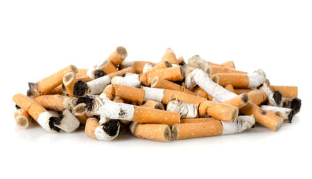 unhealthy living: Cigarette butts
