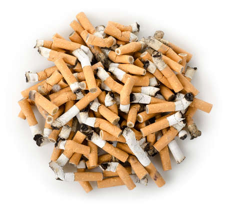 Cigarette butts isolated photo