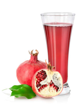 Pomegranate and glass photo