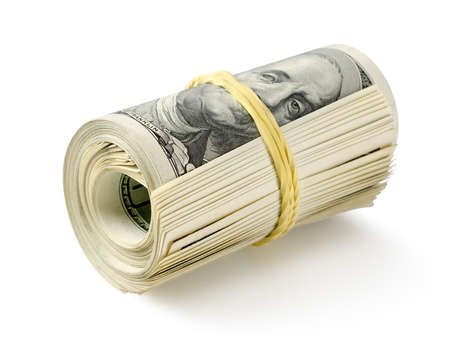 Roll of money photo