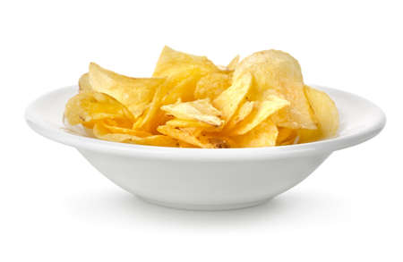 french fried potato: Chips in a plate