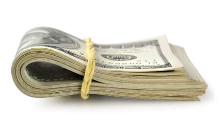 Bundle of money isolated photo