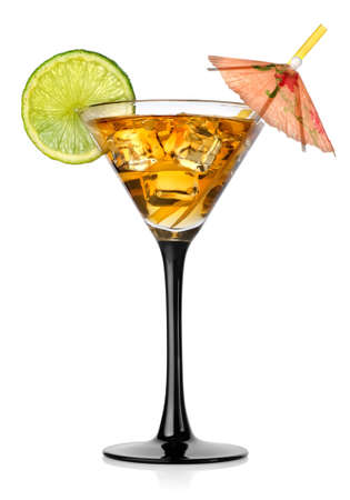 Cocktail in a glass photo