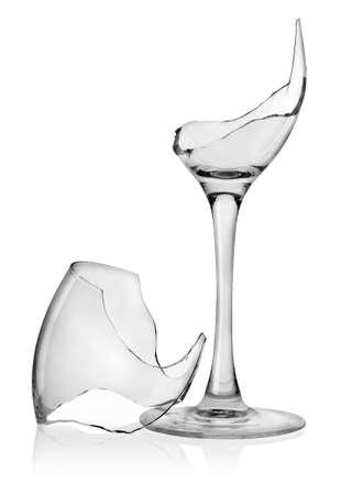 broken glass: Broken wine glass