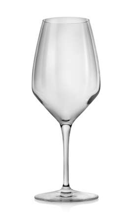 Empty wineglass isolated photo