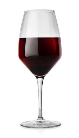 Winglass and red wine photo