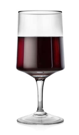 Rectangular glass of red wine photo