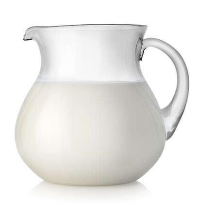 milk jug: Milk in a glass jar