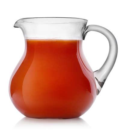 jugo de tomate: Jugo de tomate en una jarra Foto de archivo