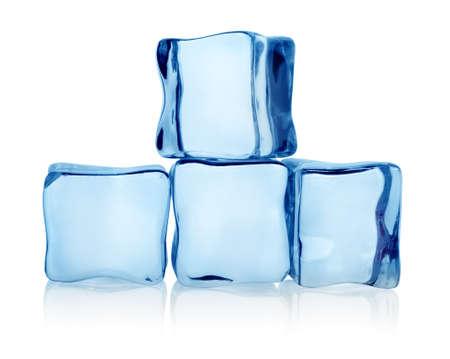 Große Gruppe von Eiswürfeln Standard-Bild