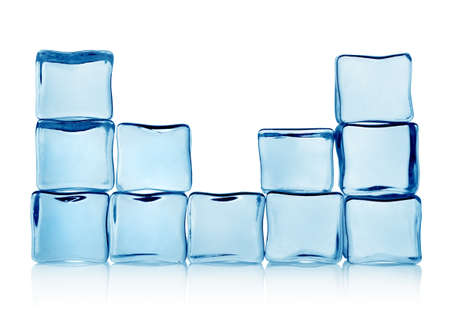 ice blocks: Figures from ice cubes