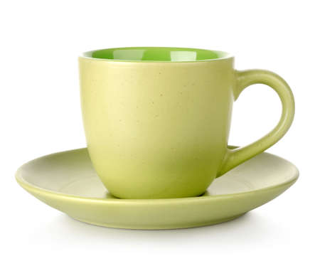 Green cup and saucer Stock Photo - 17817425