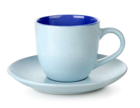 Blue cup and saucer Stock Photo - 17817431
