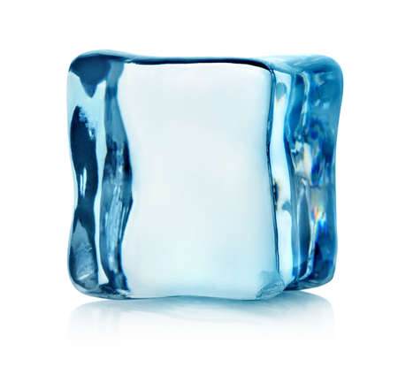 ice blocks: Ice cube isolated Stock Photo