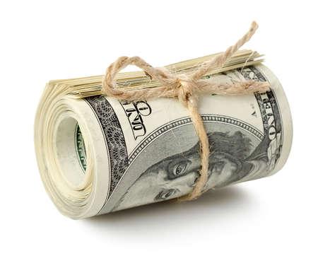 cash money: Rollo Dólar aislado