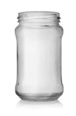Empty jar isolated Stock Photo - 17817446