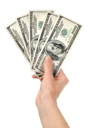 Hand with money Stock Photo - 18003036