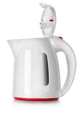White kettle isolated photo