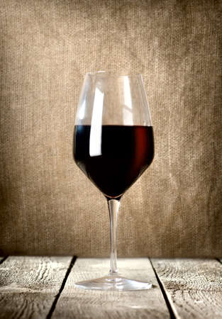 Glass of red wine photo
