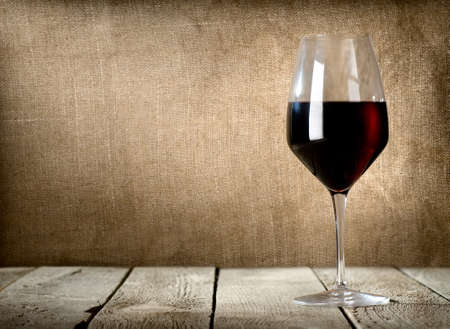 Drinking wine: Glass of dessert wine
