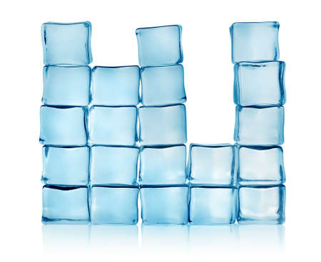 melting ice: Figures from blue ice cubes