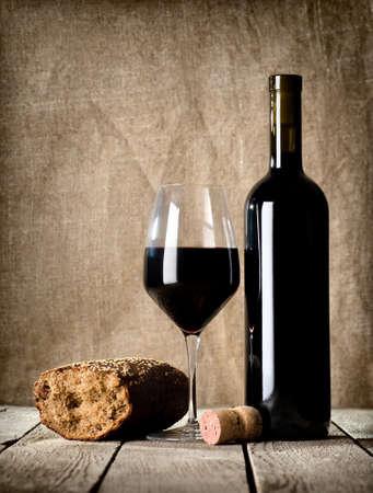 pan y vino: Vino y corcho