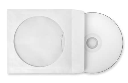CD with paper case isolated Stock Photo - 18756354