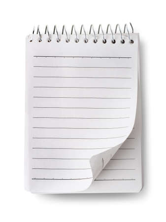 Blank notepad isolated photo