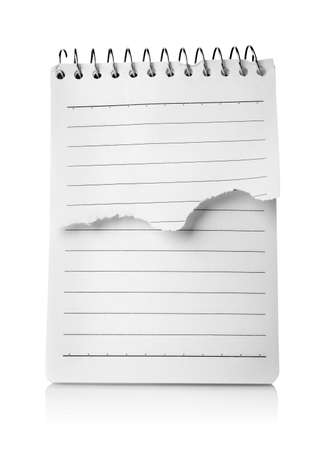 White blank notepad isolated photo