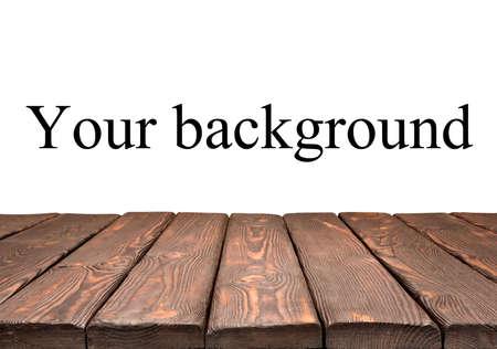 dřevěný: Dřevěný stůl Reklamní fotografie