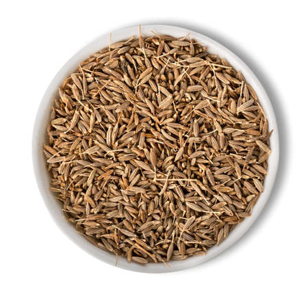 Cumin in plate isolated photo