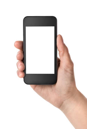 hand holding phone: Smart Phone Stock Photo