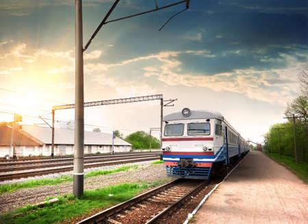 Modern train Banco de Imagens